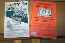Sears TV Sales Papers for a New Color TV with antenna -- SO FUNNY & Unique