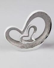 710222 Skulptur Deko-Objekt 28cm Edelweiss aus weiss-glasiertem Porzellan 28cm
