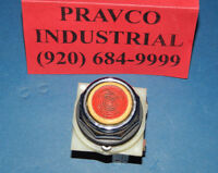 Square D Red/White Push Button With 9001-KA-1 Series B Contact Block 9001KA1