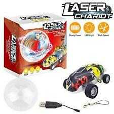 Ailejia Stunt & Racing Car with Rechargeable Battery 360° Rotating Laser Chariot