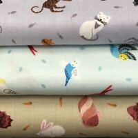 Lewis and Irene 'Small Things Pets' 100% Cotton Fat Quarter, Half or Whole Metre