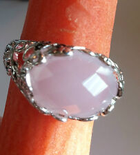Ring size 10 Into the Woods Silver band pink setting w/ leaves NEW FREE SHIPPING