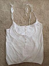 H&M White Vest Top, Size M