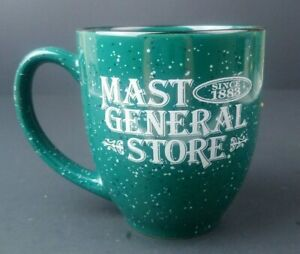 Mast General Store Enough Coffee Coffee Mug Cup Green North Carolina Souviner