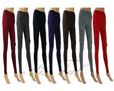 Womens Smart Full Length Side Ruffle Legging With Pockets Black Grey Red 8 - 22