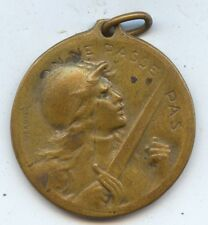 France Exonumia WW1 1916 Verdun Medal (#1048).  27MM Carefully Check