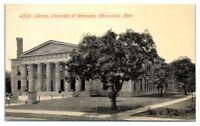 1911 University of Minnesota Library, Minneapolis, MN Postcard