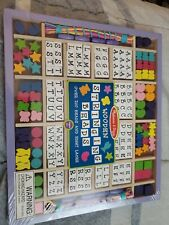 Melissa & Doug Wooden Stringing Beads 200+ Pieces 8 Laces Sealed - New