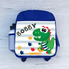 Personalizado Dino Dinosaurio huellas, Chicos Niños Mochila Bolso Escolar, Para Niños