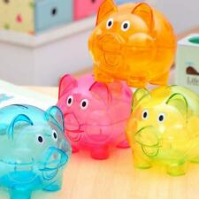 Plastic Piggy Bank Coin Money Cash Collectible Saving Box Pig Toy Kids Gift FS
