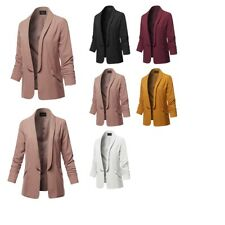 FashionOutfit Women's Basic Open Front Office Blazer Jacket