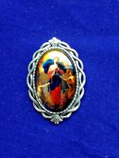 """OUR LADY UNTIER OF KNOTS "" LAPEL PINS (2 pins)  LARGE SIZE 1-1/2"" NEW in Pkg"