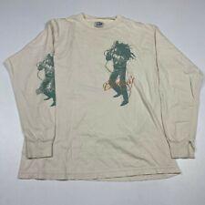 Vintage 1990s Bob Marley Doublesided Long Sleeve White Tee Shirt sz Xl