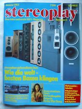 Stereoplay 1/83, ARCUS reference, cabasse GOELAND m4, l'allemand dell arte 240, Tannoy