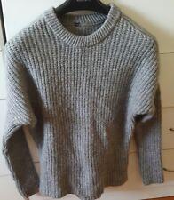ZARA Grey Jumper Mohair Wool Size S/M Made in Turkey