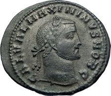 MAXIMINUS II Daia 308AD Large Authentic Ancient Roman Coin Nude Genius i73685
