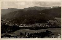 Hinterzarten Schwarzwald alte Ansichtskarte 1937 Gesamtansicht Panorama mit Wald