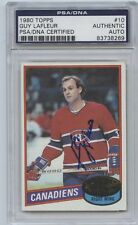 GUY LAFLEUR SIGNED 1980 TOPPS CARD #10 PSA/DNA AUTO 83738269