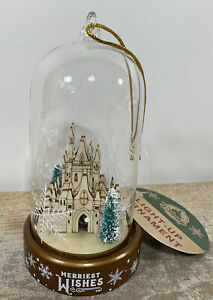 Disney Parks Cinderella Castle Light-Up Ornament Merriest Wishes