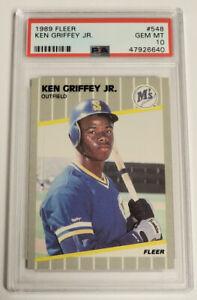 Ken Griffey Jr 1989 Fleer #548 Rookie Card Mint PSA 10