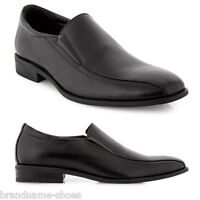 MENS JULIUS MARLOW SWELL MEN'S BLACK LEATHER SLIP ON WORK PLAIN FORMAL SHOES
