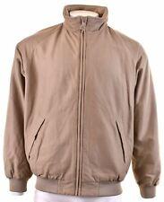 HENRI LLOYD Mens Bomber Jacket Size 44 2XL Brown Cotton  AQ15