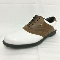 FootJoy Mens Brown White Saddle Golf Shoes Cleats Model 58141 Size US 11.5 M