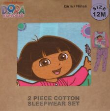 DORA the Explorer Girl 2 Piece Toddler Pajamas Size 12 Months NEW Long Sleeve