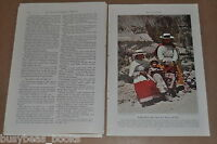 1942 magazine article about PERU, South America, Natives, society, geography etc