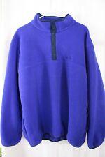 MEN L.L. BEAN 1/4 Snap On Fleece Pullover Sweatshirt Sz XL BLUE MADE IN CANADA
