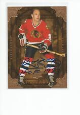 BOBBY HULL Autographed Signed 2008-09 UD Artifacts card Chicago Blackhawks COA
