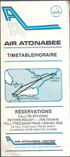 Air Atonabee system timetable 8/9/81 [7072]