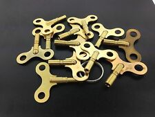Antique Clock Key Set of 12 Sizes #1 -12 Made of Brass in the USA