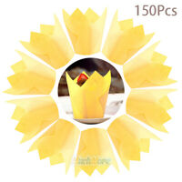 150Pcs Oil-proof Cupcake Wrapper Liners Muffin Tulip Case Cake Paper Baking Cup