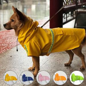 Dog Waterproof Pet PU Coat Reflective Jacket Vest Dog Raincoat Clothes Rain Coat
