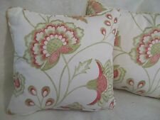 "AMIRA BY HARLEQUIN 1 PAIR OF 18"" CUSHION COVERS - DOUBLE SIDED & PIPED!"