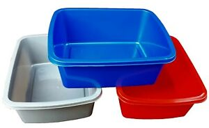 Plastic Washing Up Bowl 9.5 litre, Kitchen sink basin, rectangular 30 x 37.5 cm