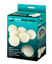 Soft Wool Dryer Balls Reusable Natural Fabric Softener for Laundry (6-Pack)