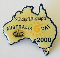 The Sunday Telegraph Australia Day 2000 Souvenir Pin Badge Rare Vintage (J11)