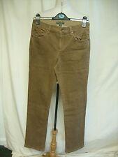 """Ladies Trousers Lauren Jeans Company brown cotton, waist 30"""" ins.leg 32"""" 7044"""