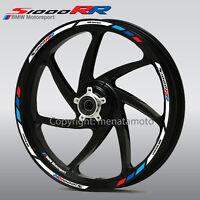 s1000RR motorcycle wheel decals 12 rim stickers set hp4 stripes BMW Motorsport