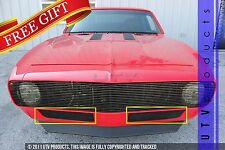 GTG 1967 Chevy Camaro 2PC Gloss Black Bumper Replacement Billet Grille Grill Kit