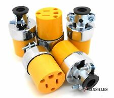 5pc Female Extension Cord Electrical Wire Repair Replacement Plug End