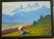 1991 MOUNT ARAGATZ Armenia,Oil Painting,Armenian Art,VARDANYAN,Vartanian,Armenie