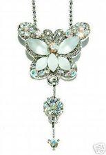 w Swarovski Crystal Bridal Wedding Jewelry White BUTTERFLY Pendant Necklace Xmas