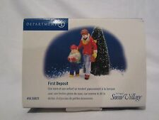 Dept 56 Snow Village Series First Deposit