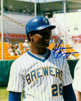 BREWERS Glenn Braggs signed photo 8x10 AUTO AUTOGRAPHED rare Milwaukee