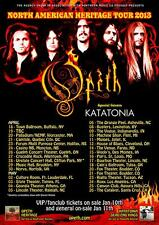 "OPETH / KATATONIA ""NORTH AMERICAN HERITAGE TOUR 2013"" CONCERT POSTER-Metal Music"