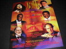 Bmi 1998 promo poster ad Diana Ross Fats Domino John Williams Paul Simon others