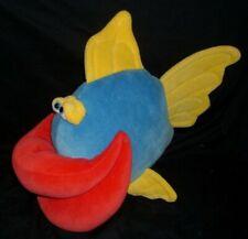 """14"""" BIG FUNNY FRIENDS JENNIFER MAZUR LIPPE MOMBO FISH STUFFED ANIMAL PLUSH TOY"""